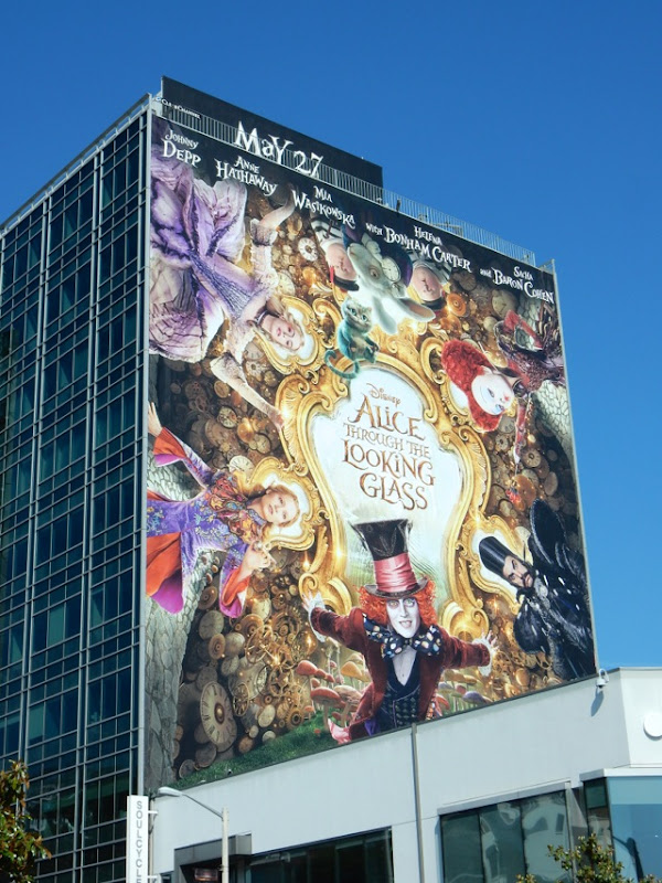 Disney Alice Through the Looking Glass billboard