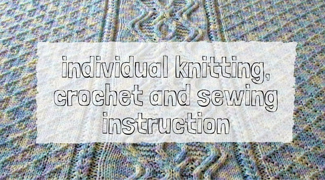 Private knitting, crochet and sewing lessons in Tucson, Arizona.