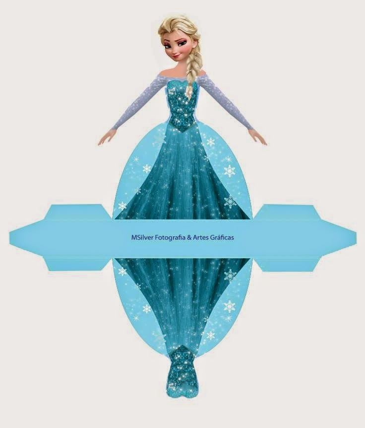 Elsa From Frozen Free Printable Dress Shaped Box Oh My