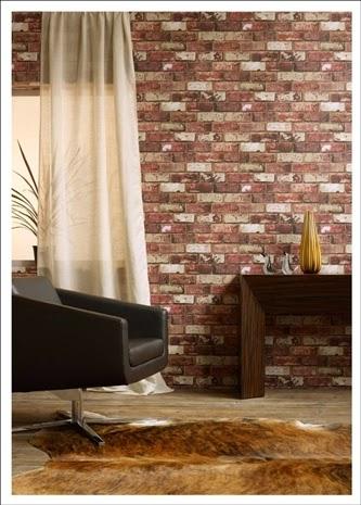 Hemmingway Designs - Hemingway Red Brick Wallpaper