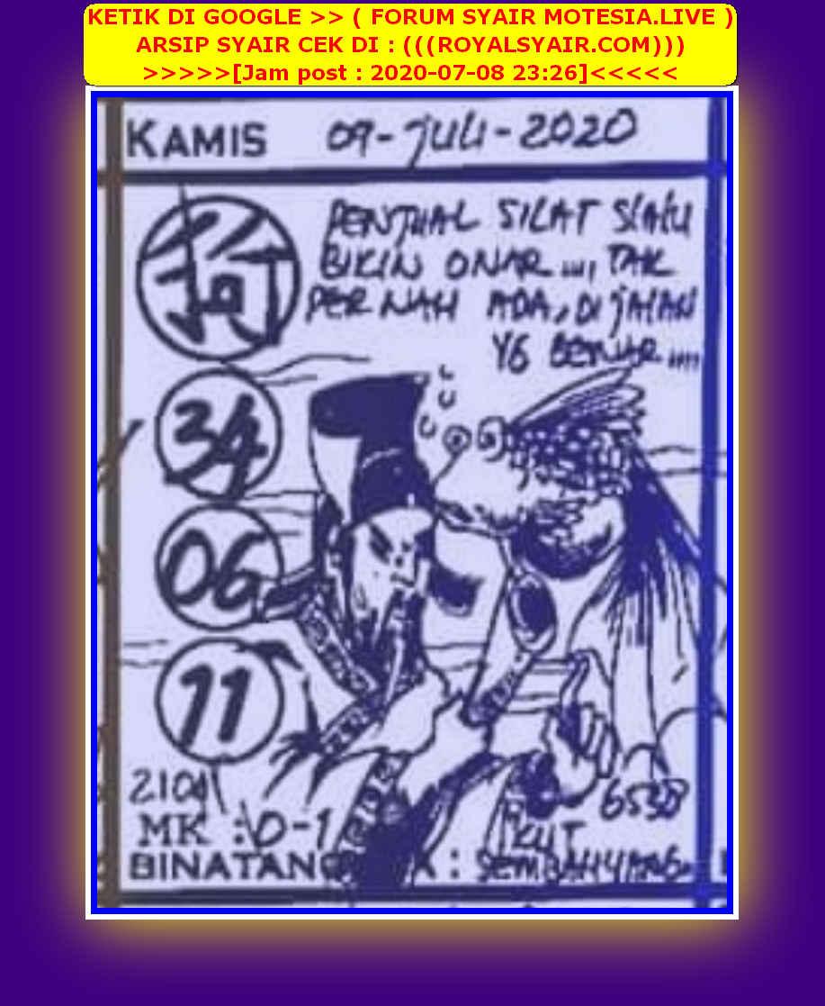 Kode syair Hongkong Kamis 9 Juli 2020 110