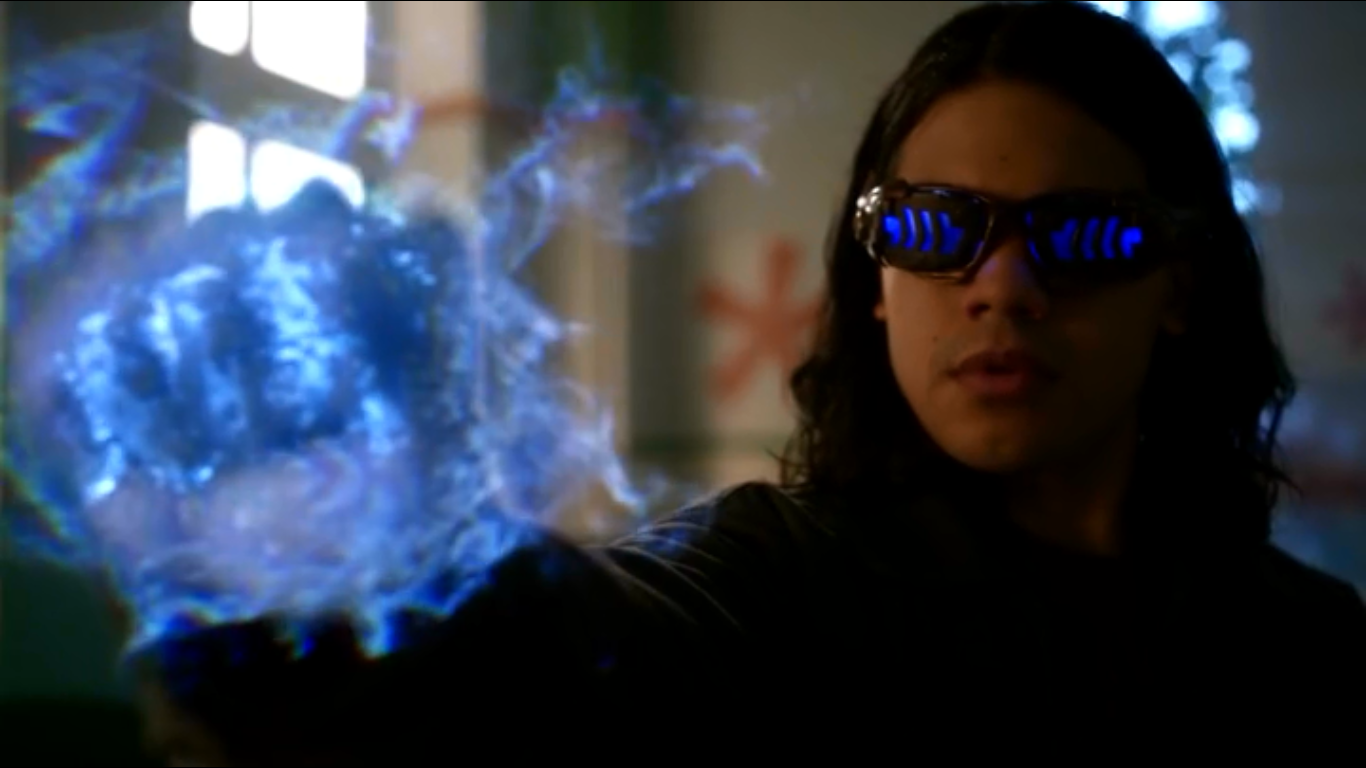 cisco ramon muestra sus poderes como vibe