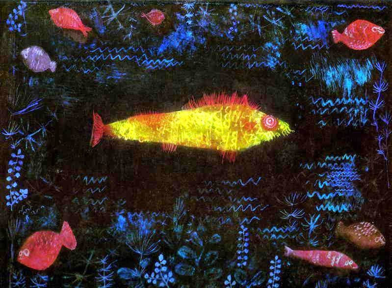 Peixe Luminoso - Paul Klee - (Expressionismo) Suíço - Pinturas com Títulos