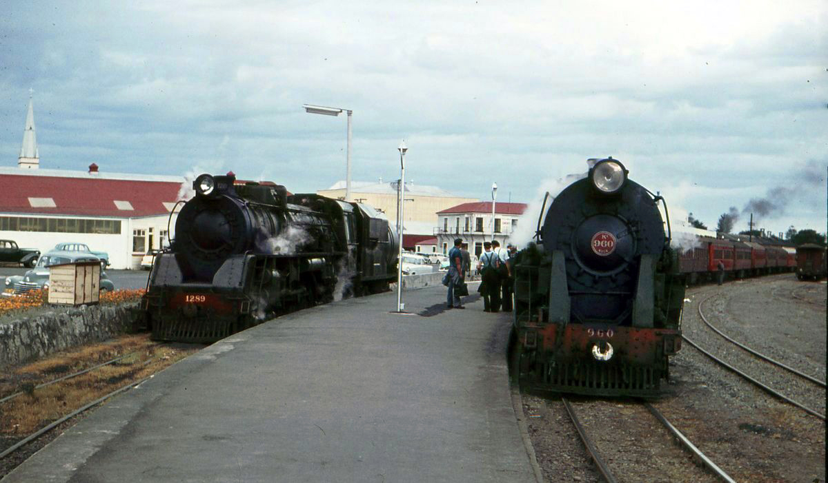 Transpress Nz Steam Trains At Napier December 1963