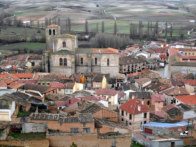 Peñaranda del Duero desde el castillo medieval