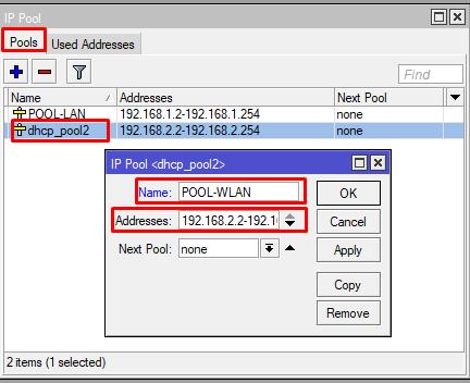 Cara ubah nama IP Pool MikroTik