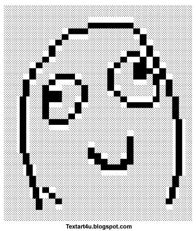 Meme Face Text Art