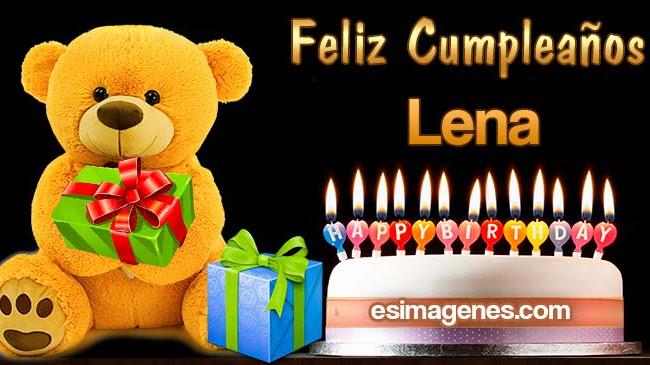 Feliz cumpleaños Lena