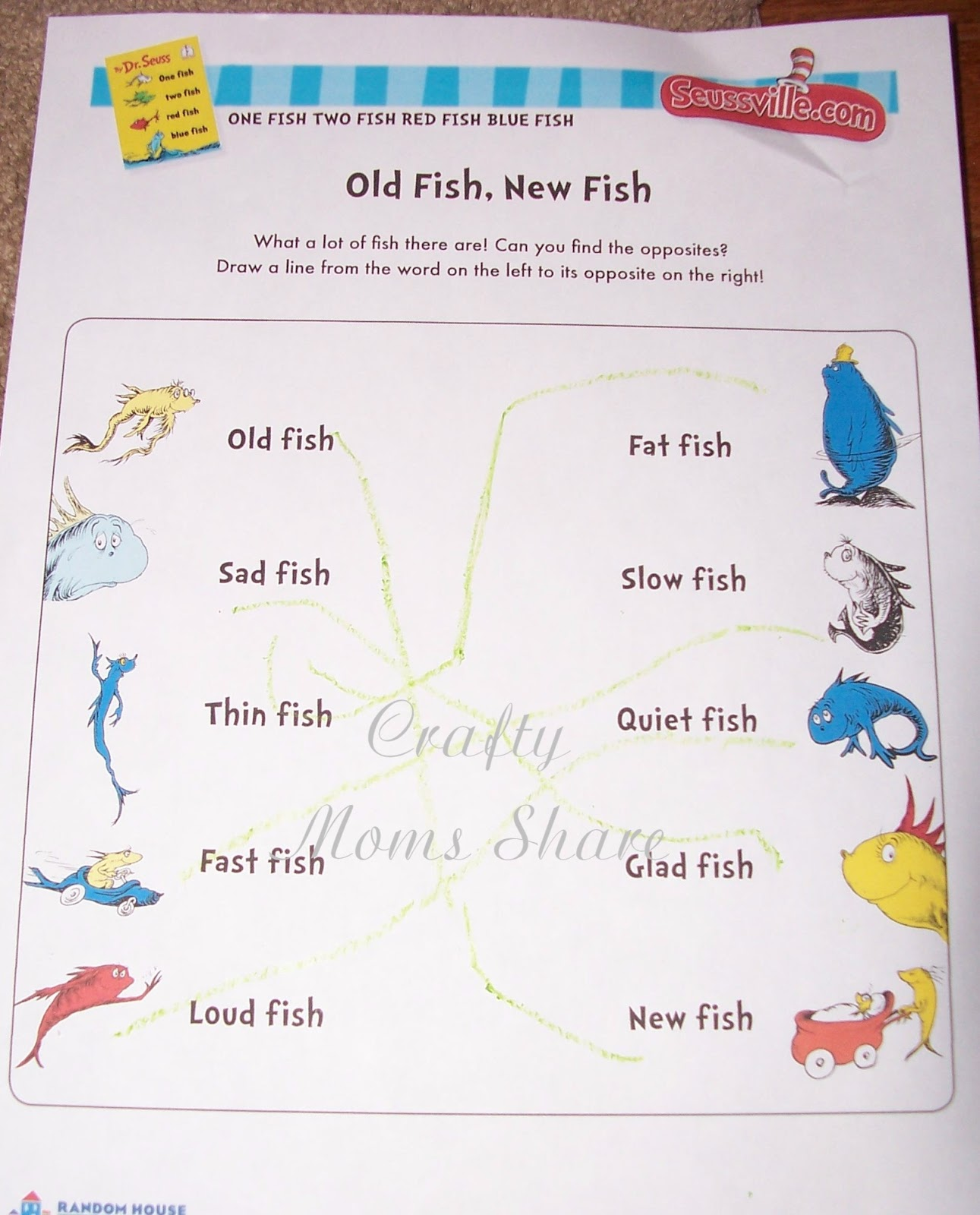 Crafty Moms Share One Fish Two Fish Red Fish Blue Fish
