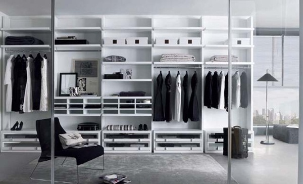 Walk-in Wardrobes Modern Designs with Many Storage Units
