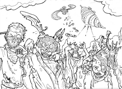 Scary Halloween Coloring Pages For Adults - Colorings.net