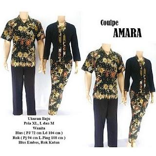 model kebaya batik pasangan Amara hitam