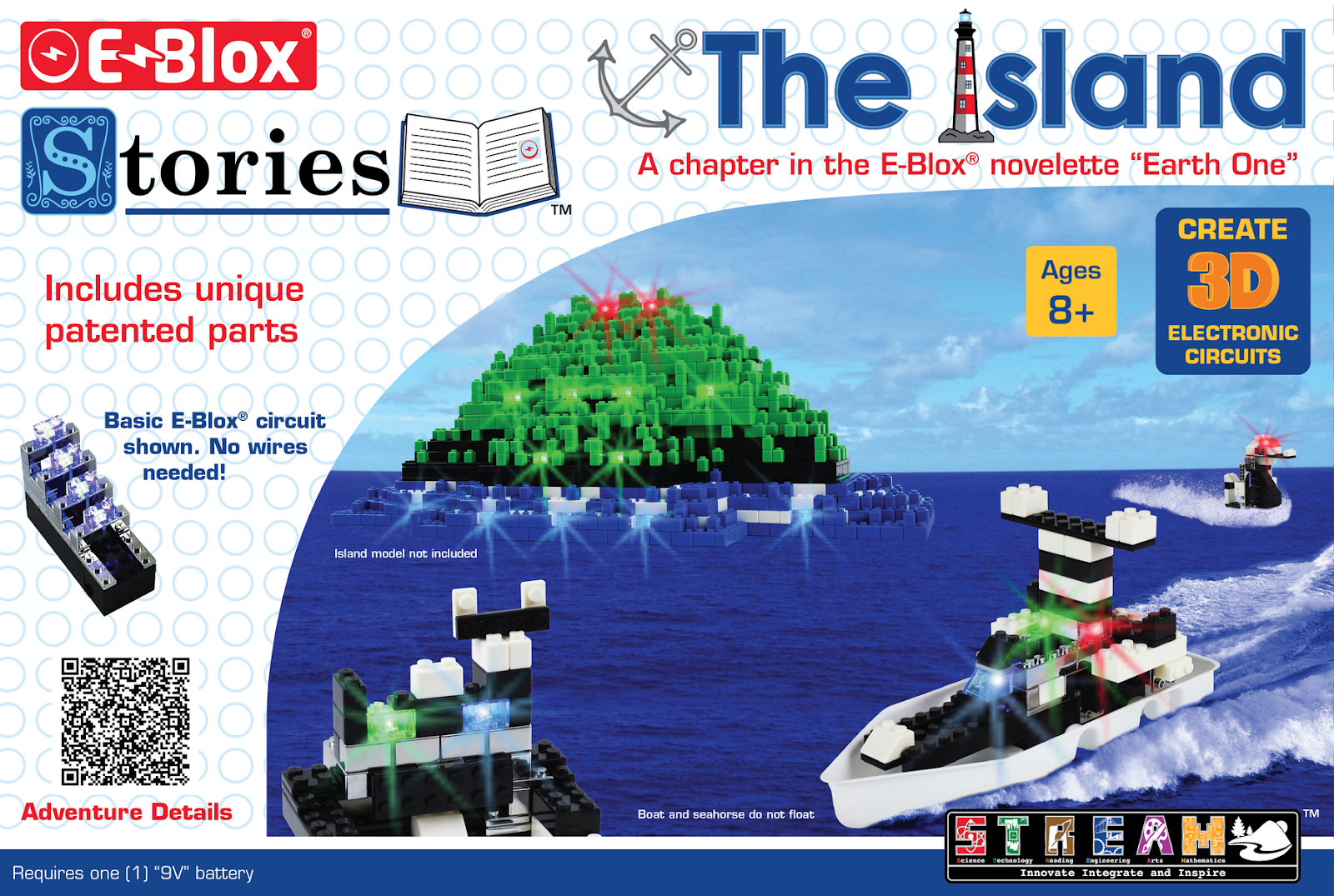 #Giveaway E-BLOX® Stories – The Island LED Light-up Building Blocks Set