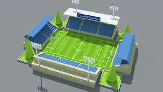 SimplePoly Stadium Kit Low Poly Models Assets