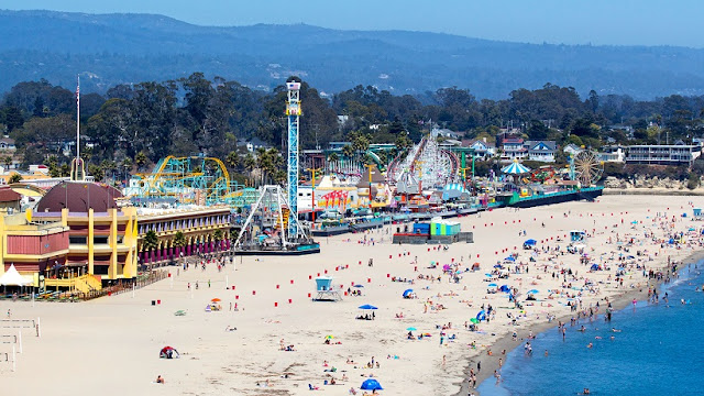Parque Santa Cruz Beach Boardwalk na Califórnia