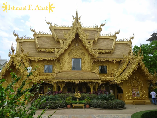 Golden Toilet at Wat Rong Khun complex, Chiang Rai, North Thailand
