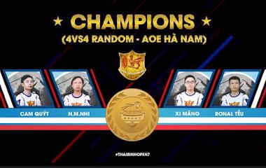 [AoE] Tổng kết vòng Chung kết AoE Thái Bình Open 7: Hà Nam - Một vụ lúa bội thu