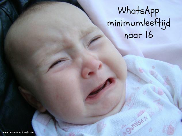 whatsapp minimumleeftijd naar 16