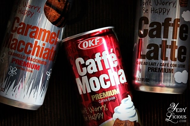 OKF Premium Coffee Cafe Latte, Caff Mocha, and Caramel Macchiato. OKF Philippines Exclusive Distributor is Oxford Distribution