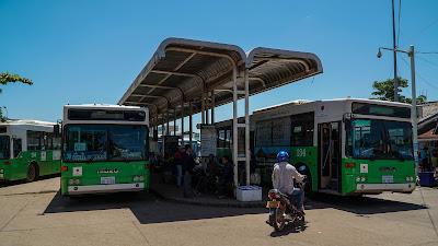 Khua Din bus station in Vientiane