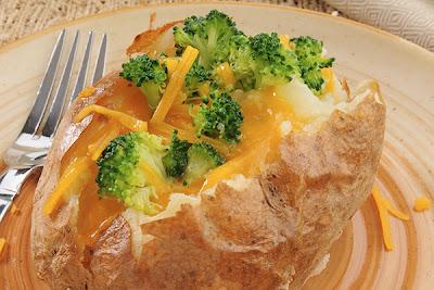 Resep Kentang Panggang Keju Brokoli