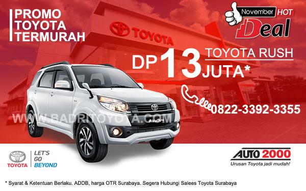Paket Keren Rush7 DP 13 Juta, Promo Toyota Surabaya
