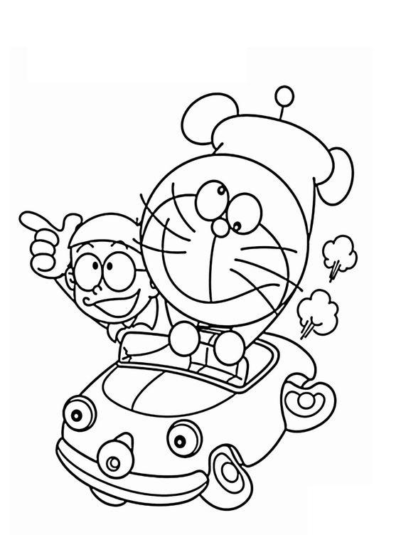 Tranh tô màu Nobita và Doremon