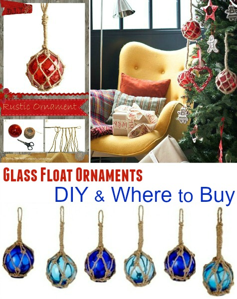 Glass Float Ornaments
