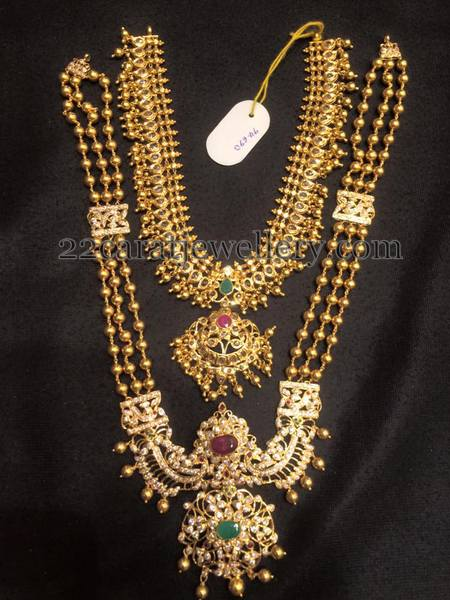 94 Grams Gold Long Set Uncut Jewelry Jewellery Designs