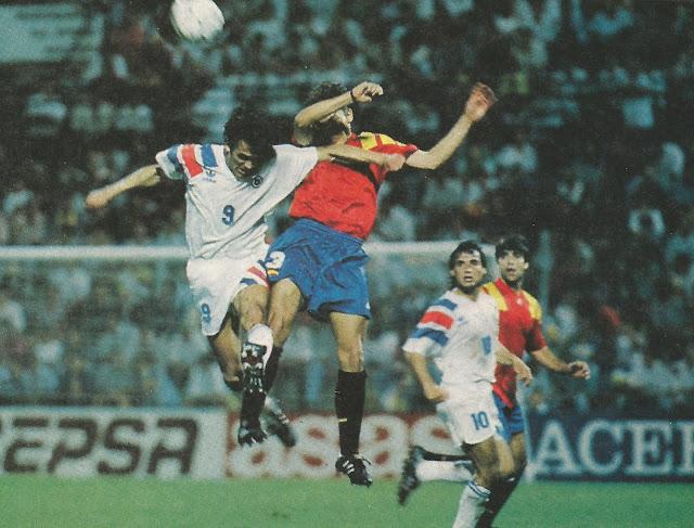 España y Chile en partido amistoso, 8 de septiembre de 1993