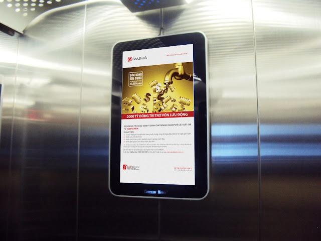 Màn hình quảng cáo trong thang máy thiết bị truyền thông hiện đại