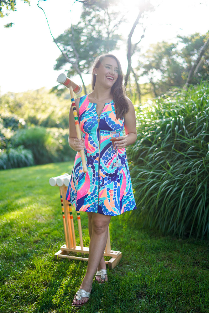 croquet, Lilly Pulitzer Sally Fit & Flare Dress, preppy style