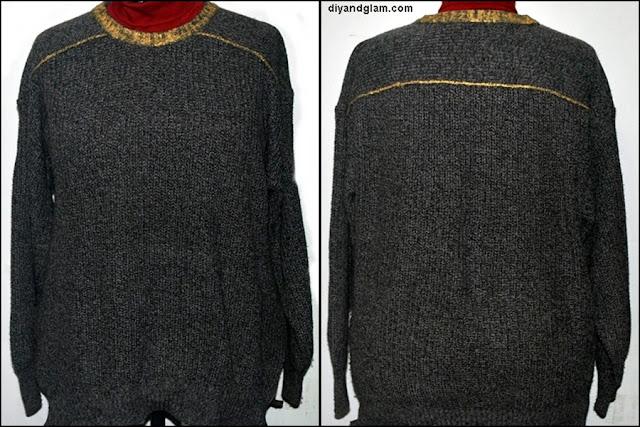 DIY cómo pintar un jersey de lana