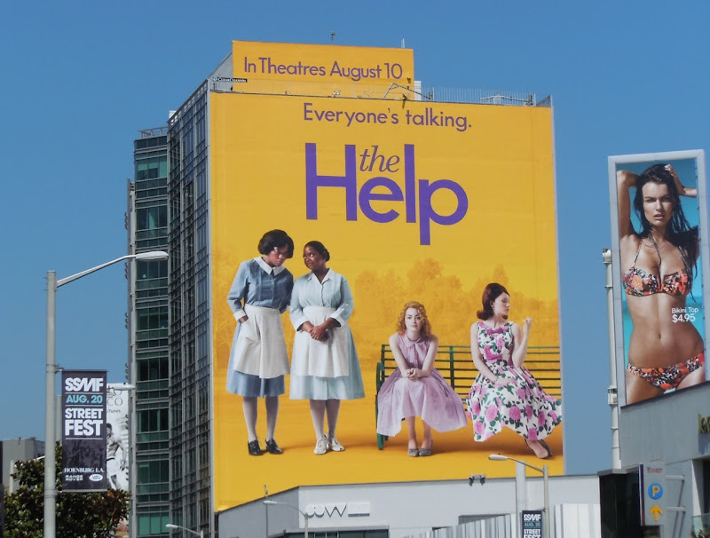 The Help movie billboard Sunset Plaza
