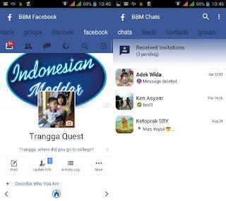 BBM Mod Tema Facebook Versi 3.3.0.16 Apk (FBUI)