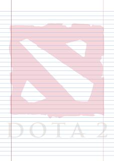 Papel Pautado Dota 2 PDF para imprimir na folha A4