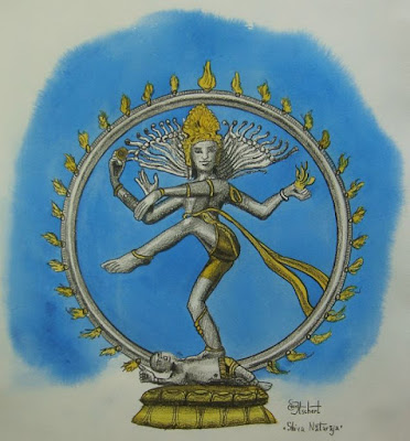 dieux, Shiva, feu, Inde, Gange, tambourin, Shiva Nataraja, shivaite, roue,