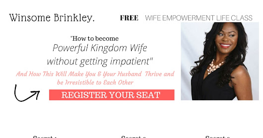 Sign Up for FREE Wife Wempowerment Clases WEBINAR!!