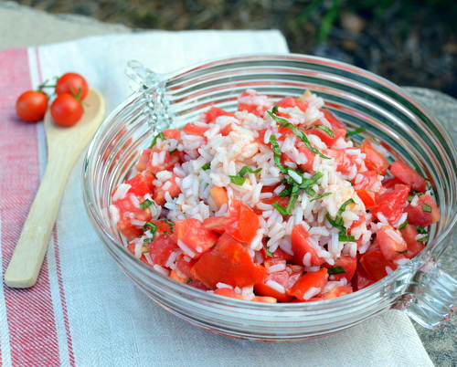 Tomato & Rice Salad, another easy-easy summer salad ♥ A Veggie Venture