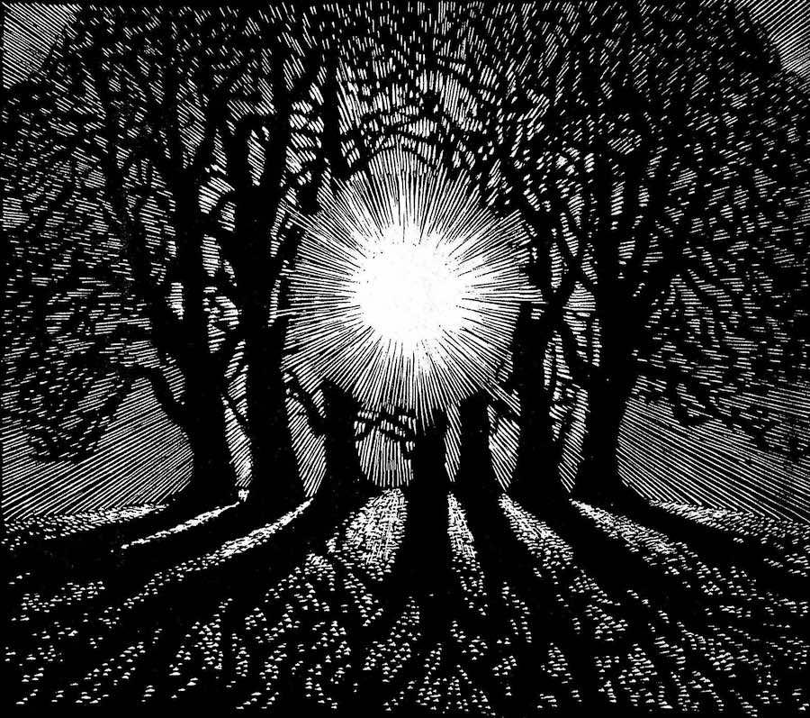 an Eileen F. Balfour woodcut
