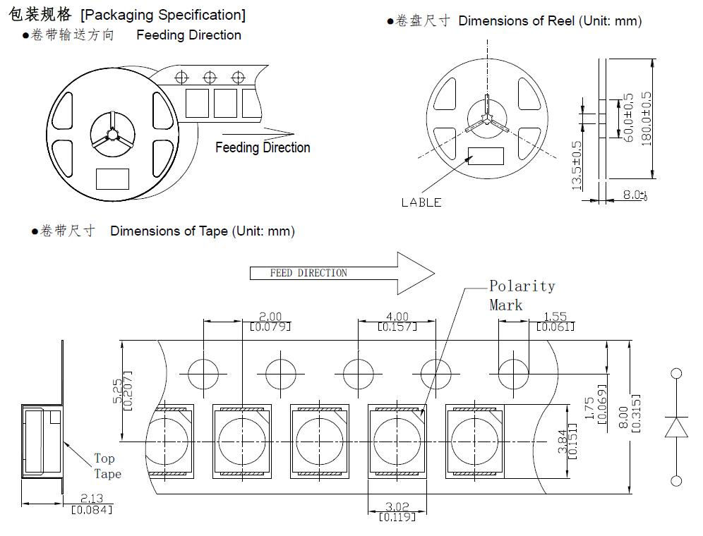 bosmfc  epistar chip  rgb 01206 smd led diode  high