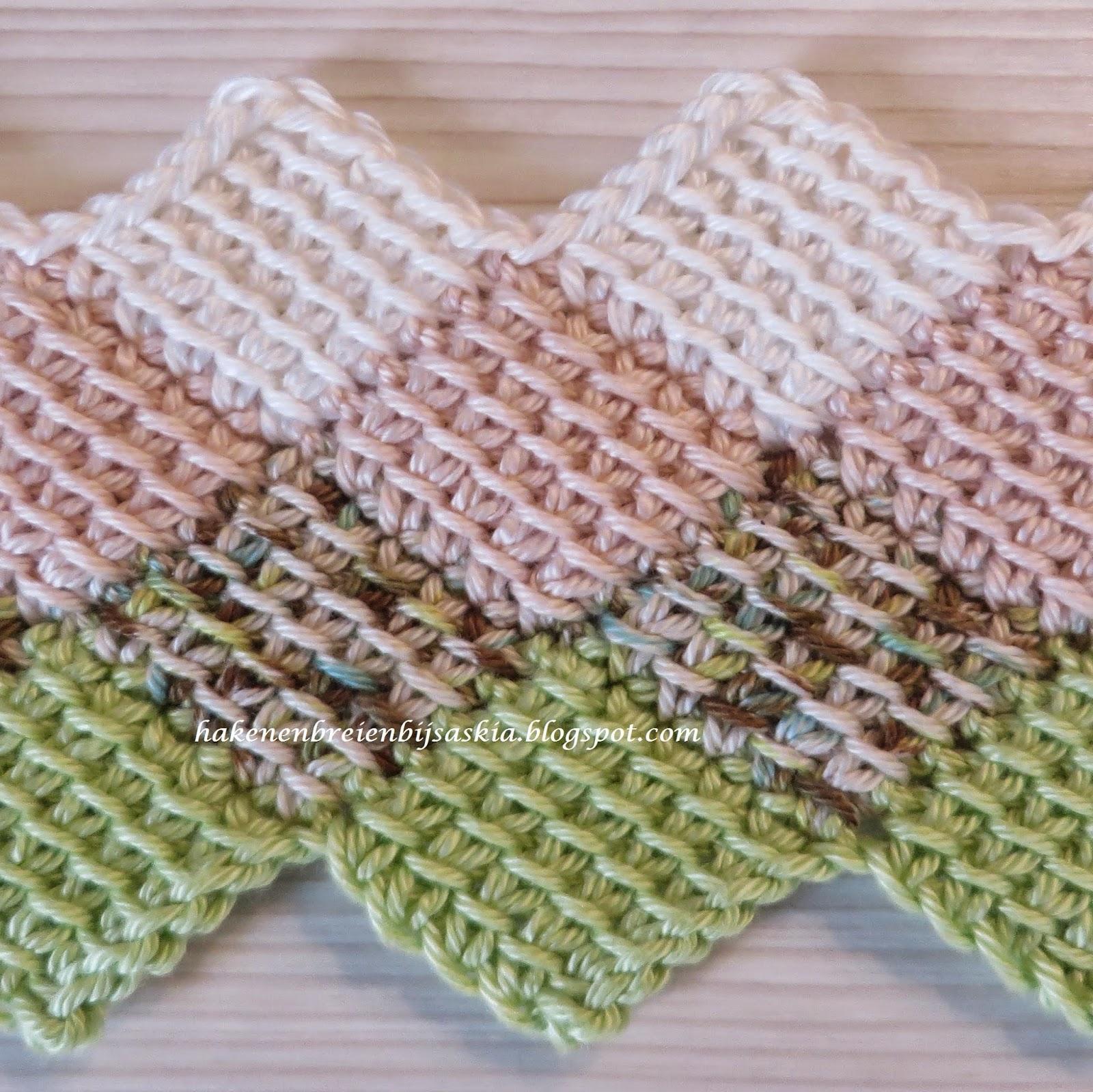 Tunisian Entrelac Crochet