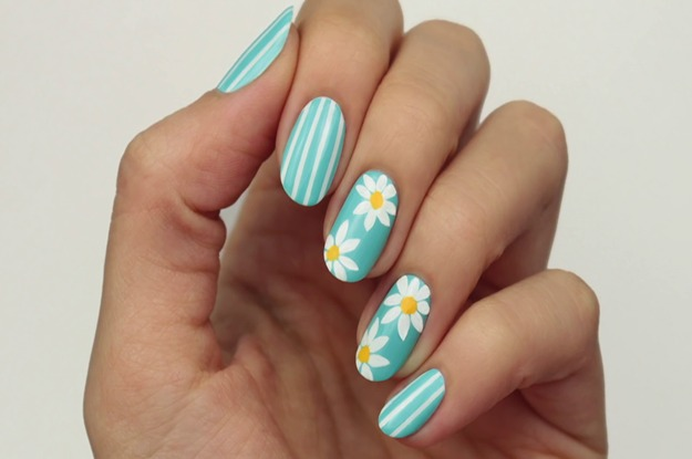 DIY Easy Daisy Nails | Dotticure Daisies Flower Nail Art Design ...