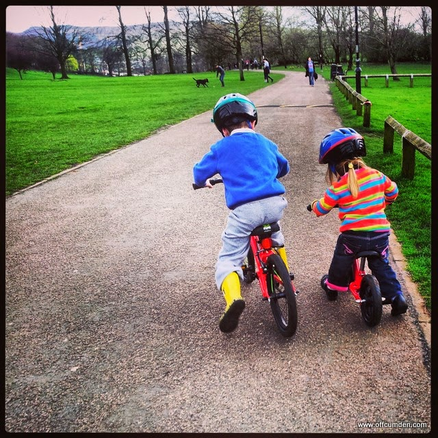 sibling bike ride