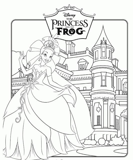 tranh tô màu công chúa Disney 15