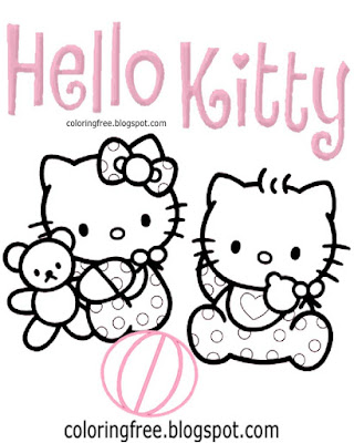 Kitten clipart tiny cats free cute baby Hello Kitty printable coloring pages for girls pink picture
