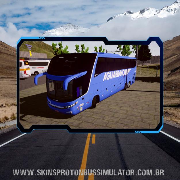 Skin Proton Bus Simulator Road - G7 1600 LD Scania K420 Viação Aguia Branca