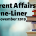 Current Affairs One-Liner: 26th November 2019