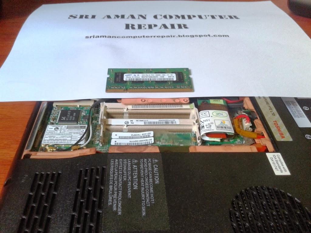 Masalah Blank Screen Pada Laptop Toshiba Satellite L310