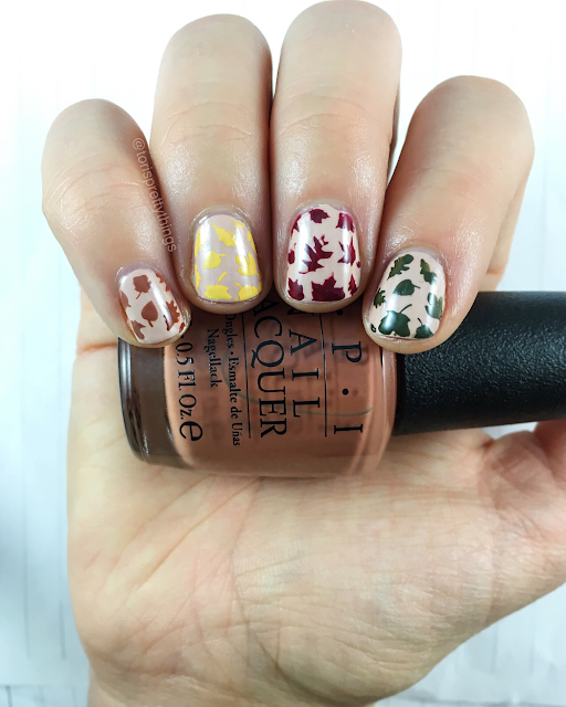 Tori's Pretty Things// Falling Leaves Nail Art